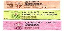 DOCG wine seals