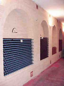 Monte Schiavo's cellar for bottle refinement