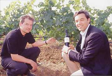 Winemaker Paolo Tiefenthaler (left) and Dr. Antonio Santarelli (right) proprietor of Casale del Giglio