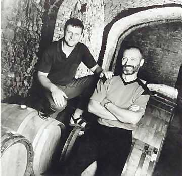 Enzo and Gianni Boglietti in their cellar