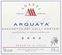 Colli Martani Grechetto 2003, Adanti (Italia)