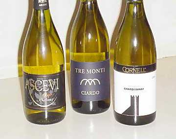 The Three Chardonnays of our Comparative Tasting