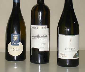 The three Tocai Friulanos of our comparative tasting