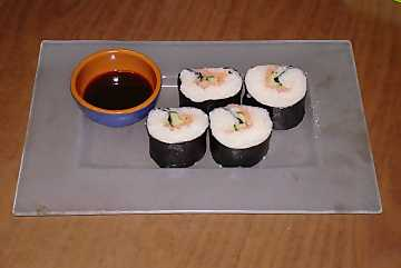 Makizushi, one of the most famous sushi types of Japanese cooking