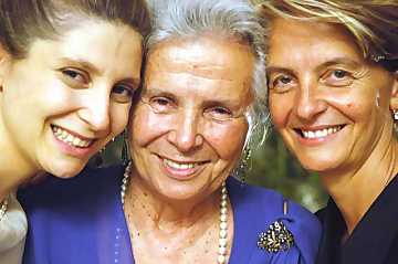 A management run by women: from left to right, Chiara Lungarotti, Maria Grazia Marchetti Lungarotti and Teresa Severini