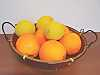 The most common varieties of citrus fruits: orange and lemon