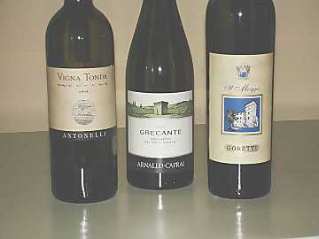 The three Grechetto wines of our comparative tasting