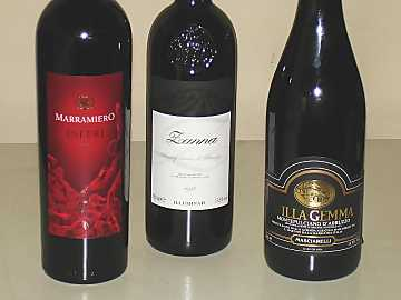 The three Montepulciano d'Abruzzo wines of our comparative tasting