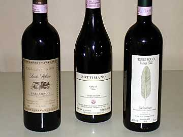 The three Barbaresco wines of our comparative tasting