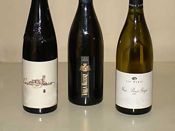 The three Pinot Gris wines of our comparative tasting