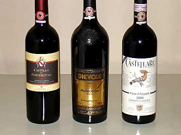 The three Chianti Classico of our comparative tasting