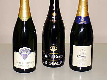 The three Franciacorta wines of our comparative tasting
