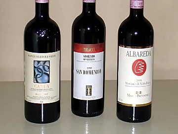 The three Sforzato della Valtellina wines of our comparative tasting