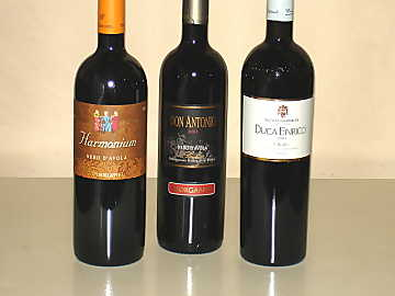 The Nero d'Avola wines of our comparative tasting