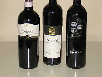 The three Taurasi wines of our comparative tasting