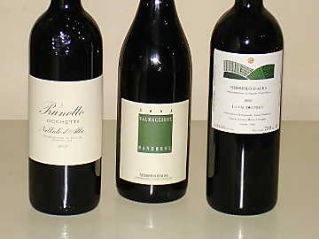 The three Nebbiolo d'Alba wines of our comparative tasting