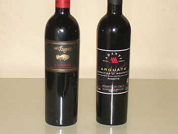 The Sagrantino di Montefalco Passito and Recioto della Valpolicella of our comparative tasting