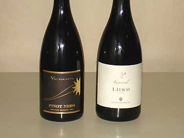 The Pinot Noir and Nerello Mascalese of our comparative tasting