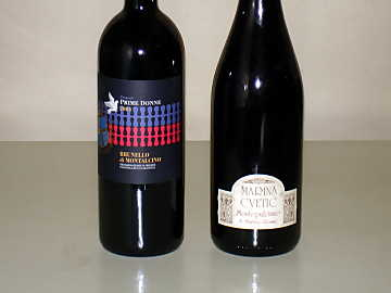 The Sangiovese and Montepulciano of our comparative tasting