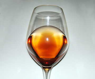 The amber coppery color of Malvasia delle Lipari