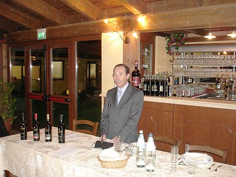 Mr. Emilio Ridolfi, managing director of Cantine Pellegrino, talking about the history of his winery