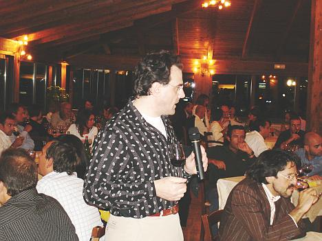 Antonello Biancalana during the tasting of Recioto della Valpolicella L'Eremita 2004