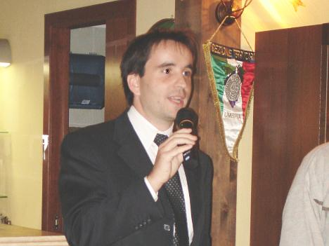Dr. Filippo Andreotta of Casa Vinicola Triacca during his speech
