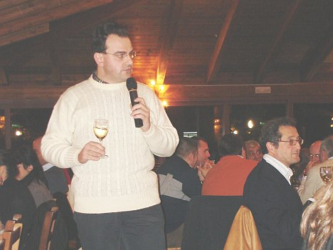 Antonello Biancalana during the tasting of Grechetto dei Colli Martani 2005