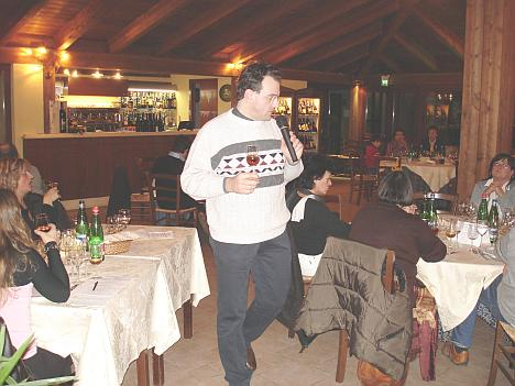 Antonello Biancalana during the tasting of Marsala Vergine Riserva del Centenario 1980
