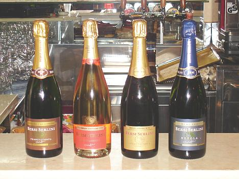 The three Bersi Serlini's Franciacortas and Nuvola Demi-Sec tasted during the event