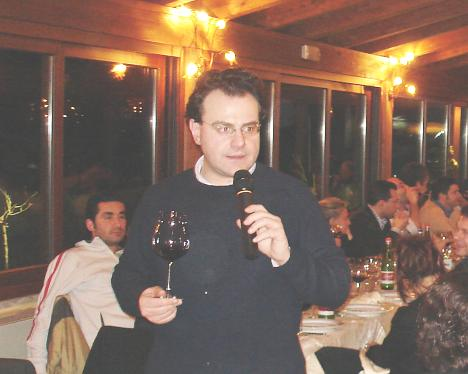 Antonello Biancalana during the tasting of Amarone della Valpolicella Valpantena 2003