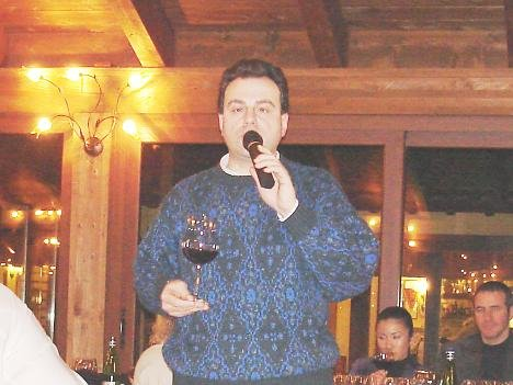 Antonello Biancalana during the tasting of Rosso Scuro 2001