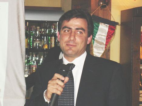 Dr. Paolo Trappolini, Avignonesi's wine maker, during his speech