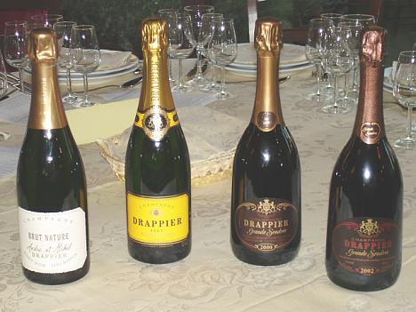 The four Drappier's Champagnes tasted during the event