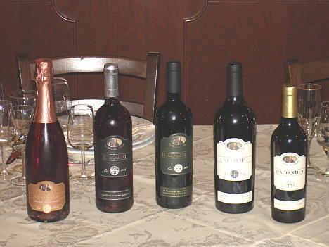 The five wines of Cantine del Notaio tasted during the event