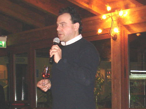 Antonello Biancalana during the tasting of Rosé Brut di Raboso Piave 2007