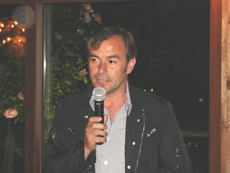 Dr. Roberto Corsetti during his speech