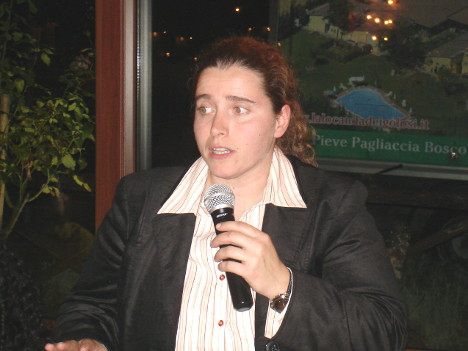 Dr. Barbara Magnani during one of her speeches