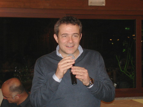 Marco Caprai during one of his speeches