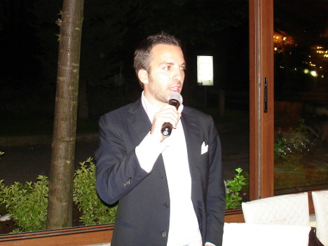 Luca Baccarelli during one of his speeches