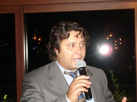 Paolo Carlo Ghislandi during one of his speeches