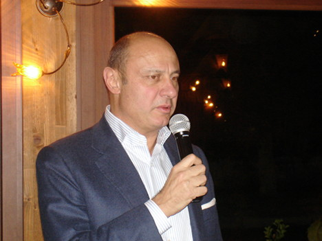 Dr. Sergio Zingarelli during one of his speeches