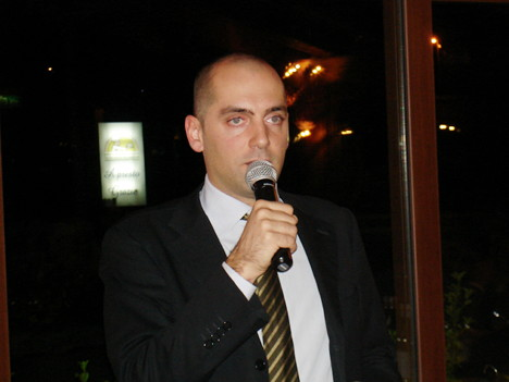 Dr. Francesco Zaganelli during one of his speeches