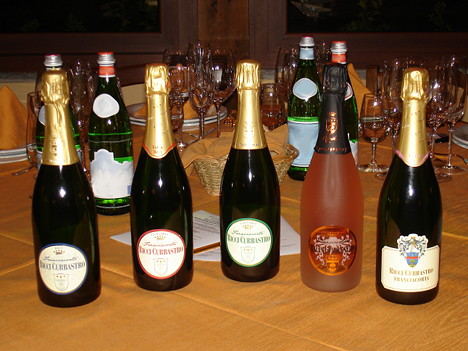 The five Franciacorta wines of Ricci Curbastro tasted during the event