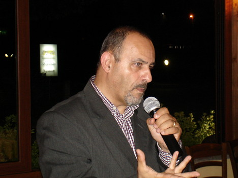 Paolo Bianconi during one of his speeches