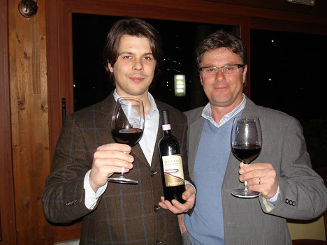 Devis and Costantino Romanelli with their Sagrantino di Montefalco