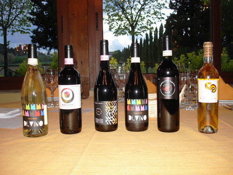 The six wines of Franco Mondo tasted during the event