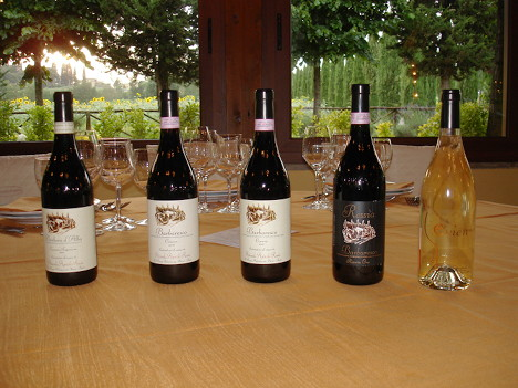The five wines of Fabrizio Ressia tasted during the event