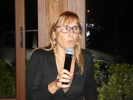 Dr. Tiziana Forni during one of her speeches