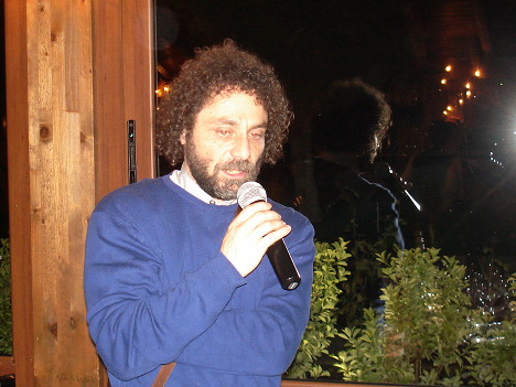 Pierpaolo Menghini during one of his speeches